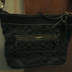 Black Coach crossbody handbag